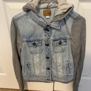 Jean jacket hoodie